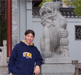 Me in a UWA jumper in Sydney!