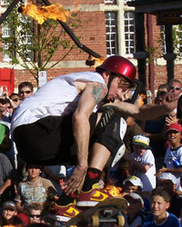The All Star Skateboard Circus at the Freo Street Arts Festival
