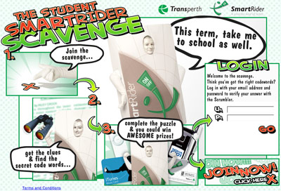SmartRider Man features in the Student SmartRider Scavenge!