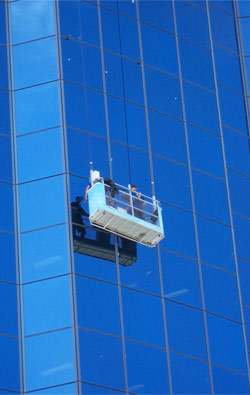 [Chaps cleaning windows on the Quadrant]
