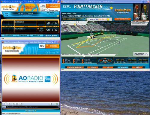 The Australian Open online scoreboard, PointTracker, and radio playback window; Creative Commons licence doesn't apply to this image