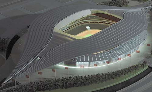 One of the design proposals for Beijing's National Stadium. Creative Commons licence does not apply to this image.