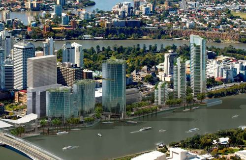 Brisbane's Northbank; Creative Commons licence does not apply to this image