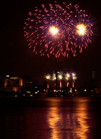Gloucester Park NYE fireworks over the Swan River