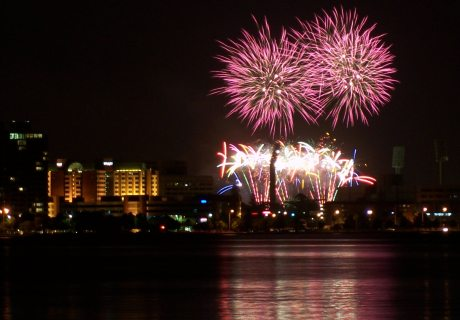 More NYE fireworks over the Swan River