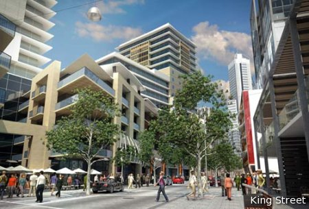 King Street in the Northbridge Link proposal; Creative Commons licence doesn't apply to this image.