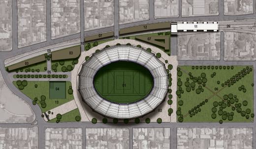 Proposed stadium precinct at Kitchener Park, Subiaco; Creative Commons licence doesn't apply to this image