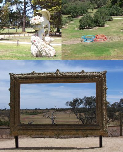 [Sculptures at Werribee Park, near Melbourne]