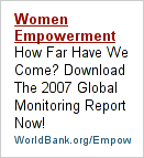 [World Bank ad entitled 'Women Empowerment']