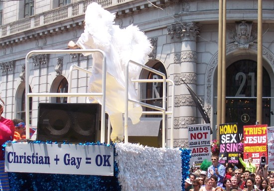 Different Christian groups at the SF Pride Parade