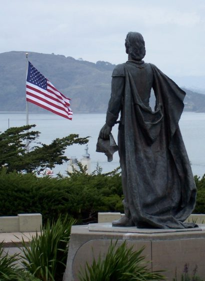 Statue of Columbus, Coit Tower, San Francisco
